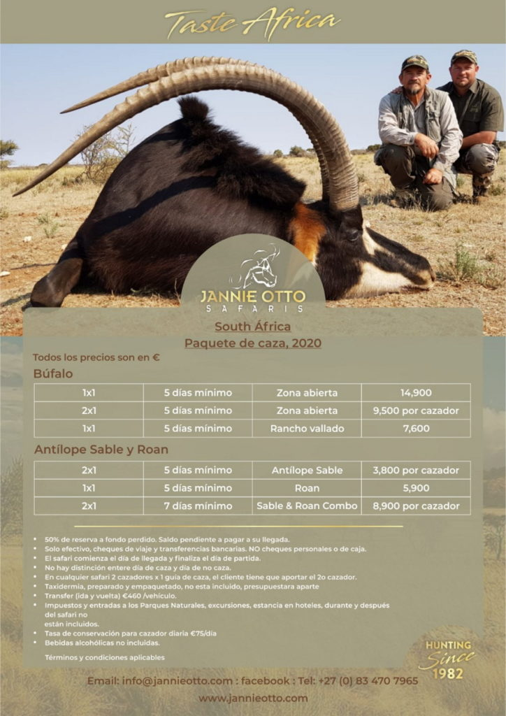 Taste Africa Paquete de caza 2020