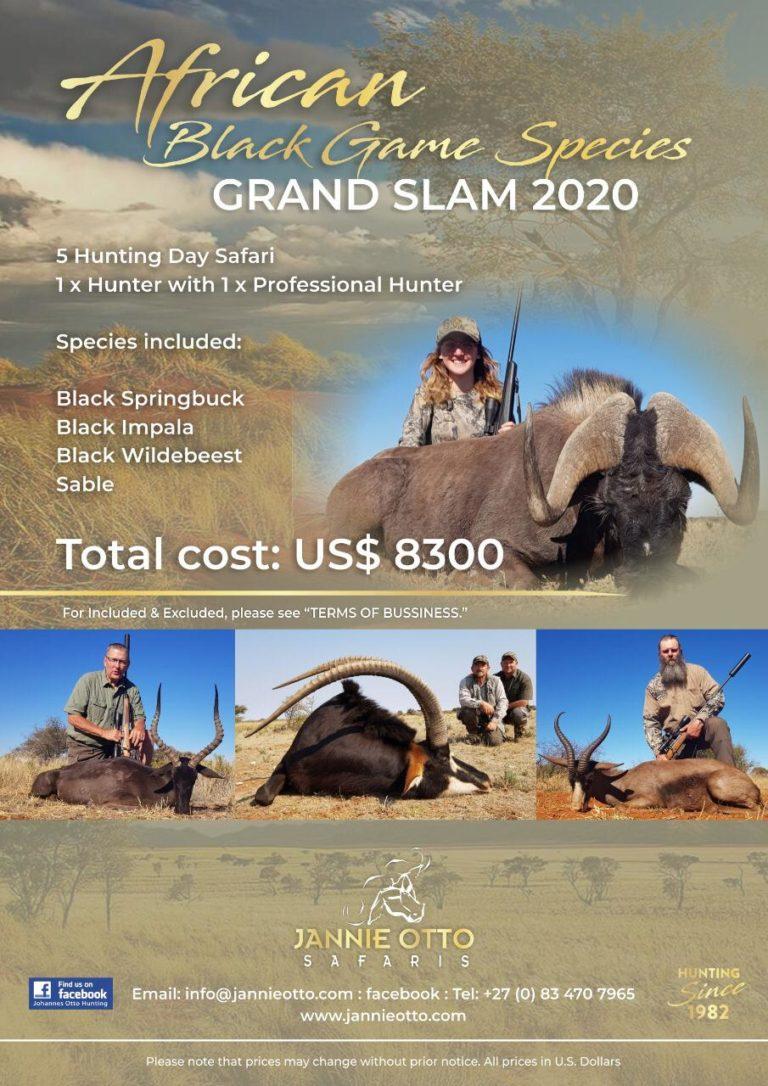 African Black Game Species Grand Slam 2020